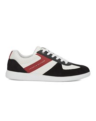 Tommy Hilfiger Blue White And Red Suede Leather Danny Sneakers