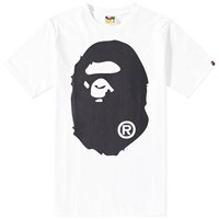 A Bathing Ape One Tone Big Head Tee White