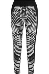 Dkny Zebra Print Voile Tapered Pants Black