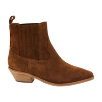 Jerome Dreyfuss Edith Western Suede Boots Tabac