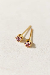Diament Jewelry X Urban Renewal Rose Crystal Stud Earring Gold