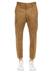 Dsquared 16.5Cm Admiral Stretch Cotton Pants Brown
