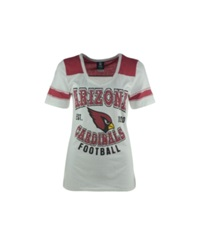 5Th And Ocean Women's Arizona Cardinals Athletic T Shirt White