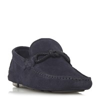Bertie Bandit X Weave Knot Lace Driver Loafers Blue