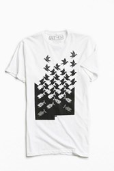 Urban Outfitters M. C. Escher Sky And Water Tee White