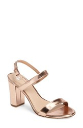 Women's Bp. Lula Block Heel Slingback Sandal Rose Gold Faux Leather