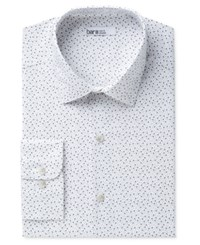 Bar Iii Men's Slim Fit Stretch Easy Care Dress Shirt Created For Macy's Grey White