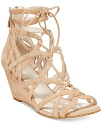 Kenneth Cole New York Women's Dylan Lace Up Wedge Sandals Women's Shoes Tan