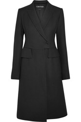 Tom Ford Wool And Silk Blend Coat Black
