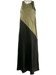 8Pm Sleeveless Two Tone Maxi Dress Green
