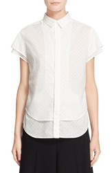 Women's Y's By Yohji Yamamoto Short Sleeve Layer Top