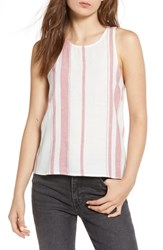 Thread And Supply Skylar Stripe Tank Blanc Red