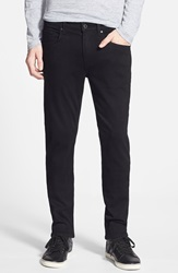 Paige 'Lennox' Skinny Fit Jeans Black Shadow