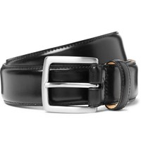 George Cleverley 3.5Cm Black Horween Shell Cordovan Leather Belt