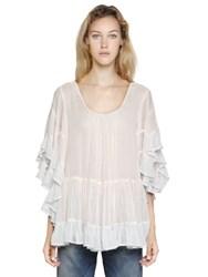 Mes Demoiselles Ruffled Cotton Gauze Top