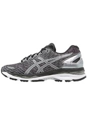 Asics Gelnimbus 18 Liteshow Cushioned Running Shoes Black Silver Shark