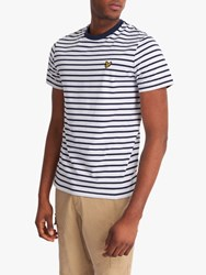 Lyle And Scott Breton Stripe T Shirt Navy White