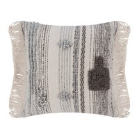 Amara Ethnic Fringe Pillow Natural Gray 50X50cm