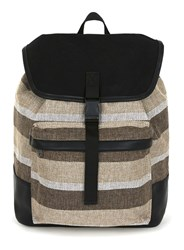 Topman Multi Stripe Canvas Backpack