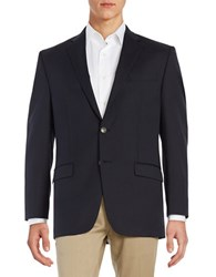 Michael Kors Wool Blend Suit Jacket Navy Blue