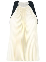 3.1 Phillip Lim Sleeveless Pleated Blouse White