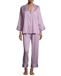 Natori Cotton Pajama Set Lavender