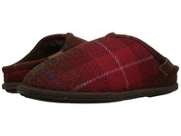 Bedroom Athletics William Harris Tweed Red Check Men's Slippers