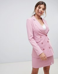 Millie Mackintosh 90'S Double Breasted Co Ord Blazer Pink