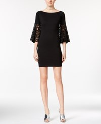 Bar Iii Lace Sleeve Sheath Dress Only At Macy's Anthracite