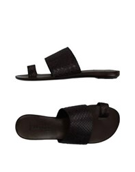 Sartore Footwear Thong Sandals Women Dark Brown