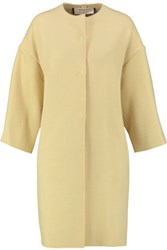 Marni Oversized Wool Blend Coat Pastel Yellow