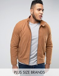 Barney's Barneys Plus Premium Suede Biker Jacket Tan
