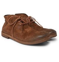 Marsell Washed Suede Chukka Boots Brown