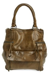 Day And Mood 'Hannah' Leather Satchel Green Olive