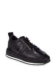 Mcq By Alexander Mcqueen Leather Lace Up Espadrilles Black