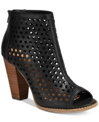Report Ronan Perforated Booties Women's Shoes Black