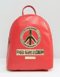 Love Moschino Peace Backpack Red
