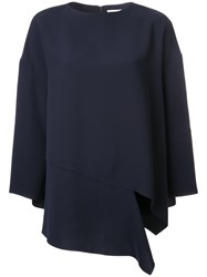 Enfold Oversized Asymmetric T Shirt Blue