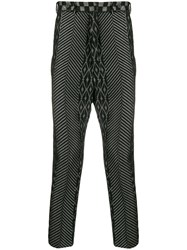 Haider Ackermann Cropped Low Crotch Trousers Grey