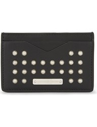 Alexander Mcqueen Studded Leather Card Holder Black Silver