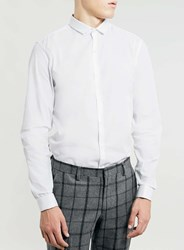 Topman White Long Sleeve Double Cuff Smart Shirt