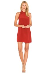 Jens Pirate Booty Soiree Cardamom Choker Dress Red