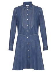 Sonia Rykiel Point Collar Denim Dress