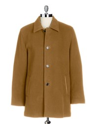 Cole Haan Wool And Cashmere Top Coat Tan