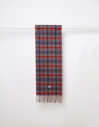 Fred Perry Cameron Tartan Scarf Orange