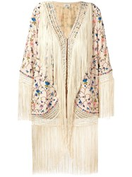 Talitha Fringed Detail Jacket Nude Neutrals