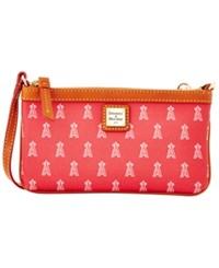 Dooney And Bourke Los Angeles Angels Of Anaheim Mlb Large Wristlet Red