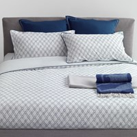 Trussardi Intreccio Duvet Cover Set Blue King