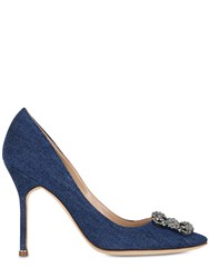 Manolo Blahnik 105Mm Hangisi Denim Pumps