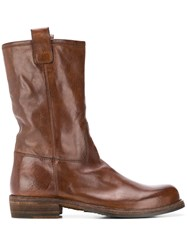 Officine Creative Chunky Ankle Boots Brown